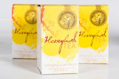 Cape Honeybush Tea packaging